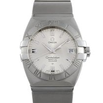 Omega Constellation Double Eagle pre-owned 35mm Silver Date Perpetual calendar Steel