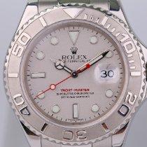 Rolex Yacht-Master 40 gebraucht 40mm Silber Datum Stahl