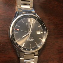 TAG Heuer Carrera Calibre 7 pre-owned 41mm Silver Date GMT Steel