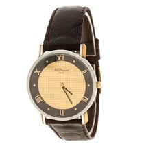 S.T. Dupont Steel Quartz S.T. Dupont Gold Dial Gold Plated Stainless Steel new