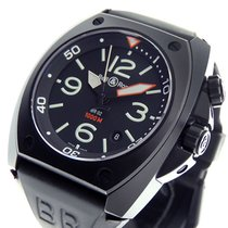 Bell & Ross Steel Automatic Black Arabic numerals 44mm pre-owned BR 02