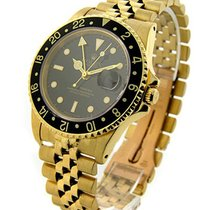 Rolex Used 16758 Yellow Gold GMT-Master 16758 - Black Dial -...
