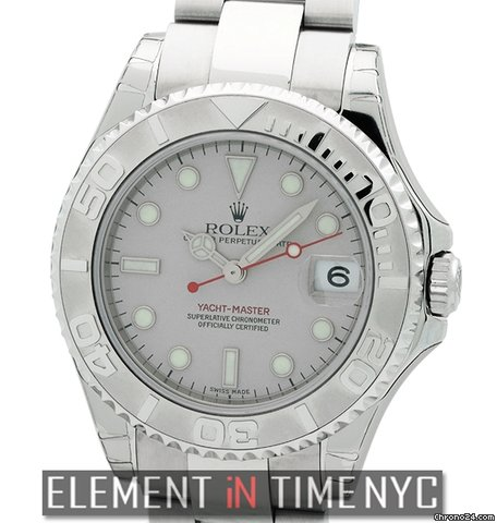 42348a499f2 Rolex Yacht-Master Mid-Size Stainless Steel Platinum Dial... for ...