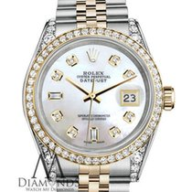 Rolex 2tone Ladies Rolex Stainless Steel 26mm Datejust Watch...