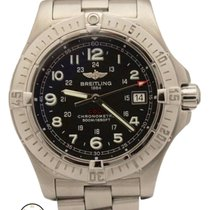 Breitling Colt Stainless Steel 40mm Quartz Black Dial A74380...