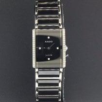 Rado Integral 18.5mm Ladies Black Diamond Dial Black Ceramic...