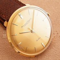 IWC vintage Mens De Luxe 18K Gold International Watch Uhr 1959