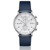 Junghans FORM C new Quartz Watch with original box and original papers 041/4775.00 JUNGHANS FORM C bianco pelle blu