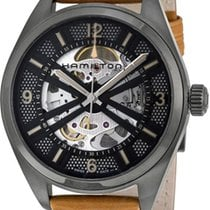Hamilton Khaki Field Skeleton Steel 42mm Black