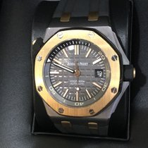 "Audemars Piguet Royal Oak Offshore Diver Audemars Piguet Royal Oak Offshore Diver ""QE II"" with Box an Good Tantalum Automatic"