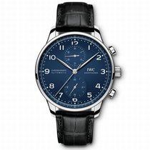 IWC IW371601 Steel Portuguese Chronograph 41mm pre-owned United States of America, California, Newport Beach