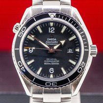 Omega Seamaster Planet Ocean Сталь 45.5mm Чёрный Aрабские