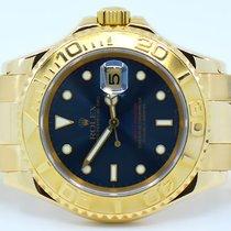 Rolex Żółte złoto Automatyczny Niebieski Bez cyfr 40mm używany Yacht-Master 40