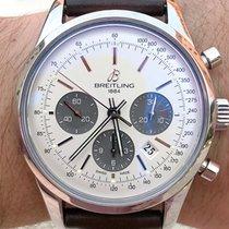 Breitling Transocean Chronograph Acero 43mm Plata