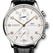IWC Portuguese Chronograph nouveau 2019 Remontage automatique Chronographe Montre avec coffret d'origine et papiers d'origine IW371445