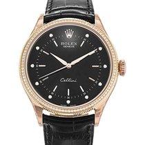 Rolex Cellini Time, Ref. 50605RBR - schwarzes Diamant Zifferblatt