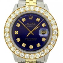 Rolex Datejust Men's 36mm Blue Dial Stainless Steel And Gold...