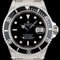 Rolex S/Steel Unworn Black Dial Submariner Date B&P NOS 16610