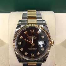 Rolex Datejust Gold&Steel Diamond Dial Box&Papers 2016