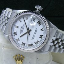 Rolex Steel Automatic White Roman numerals 31mm pre-owned Lady-Datejust