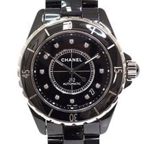 Chanel Men's Watch J12 H1626 Black (Black) Dial 12p Diamond