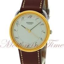 Hermès Arceau neu Quarz Nur Uhr AR3.720