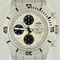 Breitling Steel Automatic White 44mm new Superocean Chronograph Steelfish