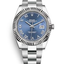 Rolex Datejust Steel 41mm Blue No numerals