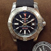 Breitling Avenger II GMT Steel 43mm Black No numerals