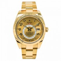 Rolex new Automatic Rotating Bezel Screw-Down Crown 42mm Yellow gold Sapphire Glass