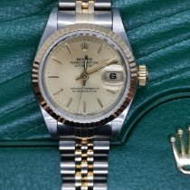Rolex Lady-Datejust Goud/Staal 26mm Champagne Geen cijfers
