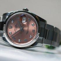 Ρολεξ (Rolex) oyster perpetual date rose 5 diamants