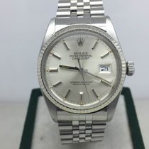 Rolex Date just  white gold besel vintage steel