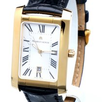 Maurice Lacroix Men's Yellow Goldplated Miros Rectangle 28...