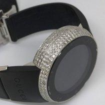 Gucci Mens Full Case Digital Gucci Ya114212 Genuine Diamond...
