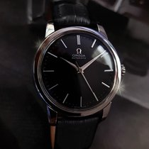 Omega vintage watch Automatic black dial stainless steel + Box