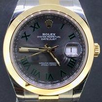 Rolex Datejust 41MM Gold/Steel Oyster, Wimbledon Dial Full Set