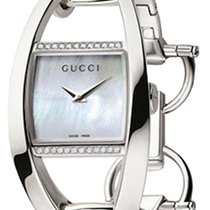 Gucci Silver Quartz Mother of pearl 27mm new