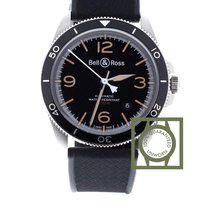 Bell & Ross BR V2-92 Steel Heritage Black Rubber Strap