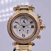 Cartier Pasha C gebraucht 35mm Gelbgold
