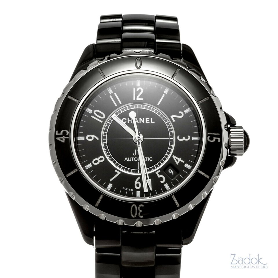 bd9212257cea Chanel J12 Automatic Ladies  Watch Black 38mm Date H0685 With... for ...