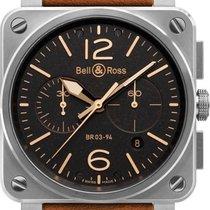 Bell & Ross BR 03-94 Chronographe BR0394-ST-G-HE-SCA new