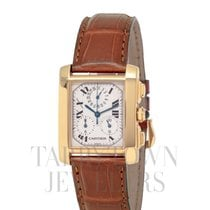 Cartier Tank Française Yellow gold 36mm Silver Roman numerals United States of America, New York, Hartsdale