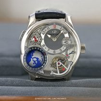 Greubel Forsey White gold 43.5mm Manual winding GMT pre-owned