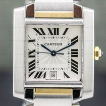 Cartier Tank Française 28mm Silver Roman numerals United States of America, Massachusetts, Boston