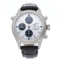 IWC Pilot Double Chronograph Steel 44mm White Arabic numerals United States of America, Pennsylvania, Bala Cynwyd