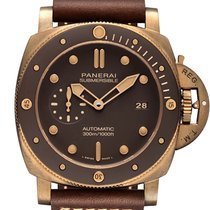 Panerai Bronze Automatic Brown No numerals 47mm new Luminor Submersible