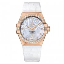 Omega Rose gold Automatic Mother of pearl 35mm new Constellation Ladies