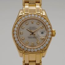 Rolex Lady-Datejust Pearlmaster Yellow gold 29mm Silver No numerals United States of America, California, Marina Del Rey