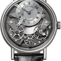 Breguet new Automatic Guilloché dial Tempered blue hands 40mm White gold